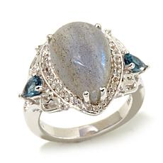 Colleen Lopez Labradorite & London Blue Topaz Ring