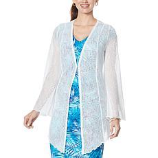 Colleen Lopez Long-Sleeve Raschel Lace Cardigan