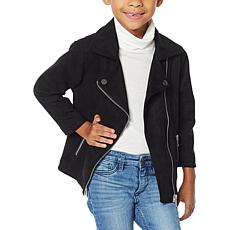 "Colleen Lopez ""Mini and Me"" Faux Suede Moto Toddler Jacket"