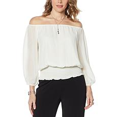 Colleen Lopez Off-the-Shoulder Favorite Peasant Blouse - Basic