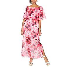 Colleen Lopez Off-the-Shoulder Flutter Dress