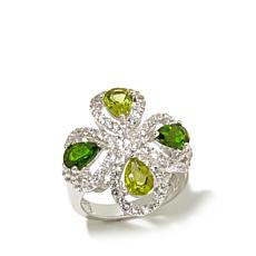 Colleen Lopez Peridot, Chrome Diopside & Topaz Ring