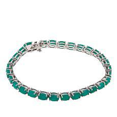 Colleen Lopez Sakota Emerald Sterling Silver Line Bracelet
