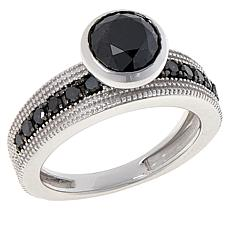 Colleen Lopez Sterling Silver 2ctw Black Diamond Ring