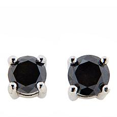 Colleen Lopez Sterling Silver .5ctw Black Diamond Stud Earrings