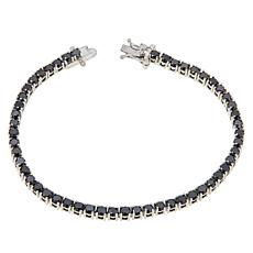 Colleen Lopez Sterling Silver Black Diamond Tennis Bracelet