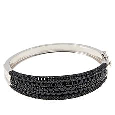 Colleen Lopez Sterling Silver Black Spinel Bangle