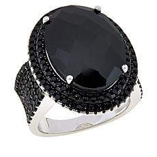 Colleen Lopez Sterling Silver Black Spinel Ring