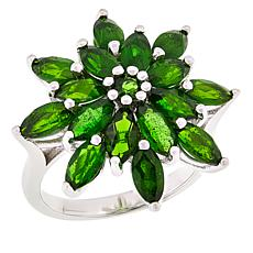 Colleen Lopez Sterling Silver Chrome Diopside Starburst Ring