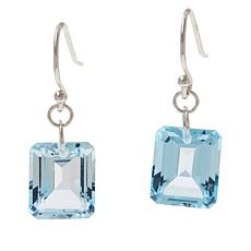 Colleen Lopez Sterling Silver Emerald-Cut Gemstone Drop Earrings