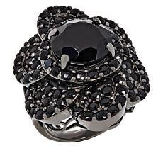 Colleen Lopez Sterling Silver Gemstone Flower Ring