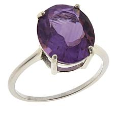 Colleen Lopez Sterling Silver Gemstone Solitaire Ring