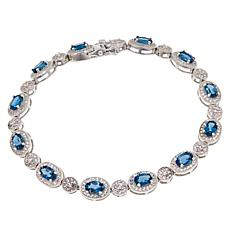 Colleen Lopez Sterling Silver London Blue Topaz & White Topaz Bracelet