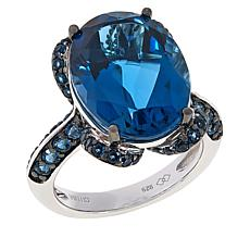 Colleen Lopez Sterling Silver London Blue Topaz Ring