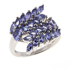 Colleen Lopez Sterling Silver Marquise Tanzanite Ring
