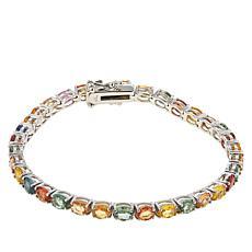 Colleen Lopez Sterling Silver Multi-Sapphire Tennis Bracelet