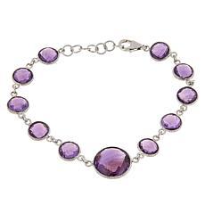 Colleen Lopez Sterling Silver Round Gemstone Bracelet