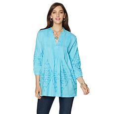 "Colleen Lopez ""Sunshine Shimmer"" Embellished Tunic"
