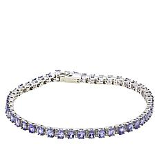 Colleen Lopez Tanzanite and White Zircon Tennis Bracelet