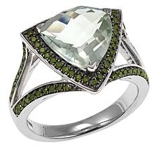 Colleen Lopez Trilliant Gem and Diamond Sterling Silver Ring