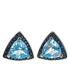 Colleen Lopez Trilliant Gem and Diamond Stud Earrings