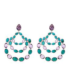 Colleen Lopez Turquoise and Amethyst Drop Earrings
