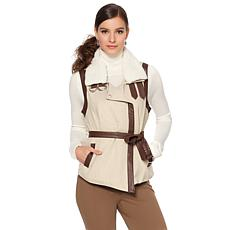 Colleen Lopez Vest with Removable Faux Sherpa Collar