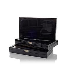 Colleen's Prestige™ 3pc Croco-Embossed Jewelry Boxes