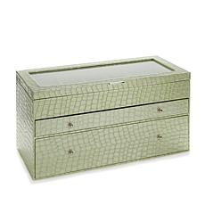 "Colleen's Prestige™ Croco-Embossed ""Everything"" Jewelry Box"