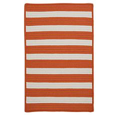 Colonial Mills Stripe It 5' x 8' Rug - Tangerine