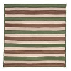 Colonial Mills Stripe It 8' Square Rug - Moss/Stone