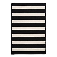 Colonial Mills Stripe It 8' x 11' Rug - Black/White