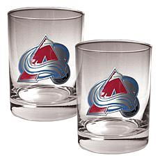 Colorado Avalanche 2pc Rocks Glass Set