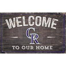 Colorado Rockies 11x19 Welcome to our Home Sign