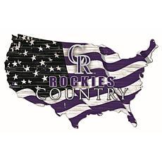 Colorado Rockies USA Shape Flag Cutout