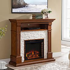 Colston Faux Stone Media Fireplace