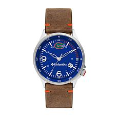 Columbia Men's Canyon Ridge Florida Gators Saddle Leather Strap Watch