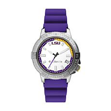 Columbia Men's Peak Patrol LSU Purple Silicone Strap Watch