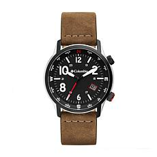 "Columbia ""Outbacker"" Men's Camel-Color Leather Strap Watch"