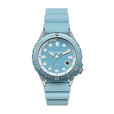 """Columbia """"Pacific Outlander"""" Men's Sky Blue Silicone Strap Watch"""