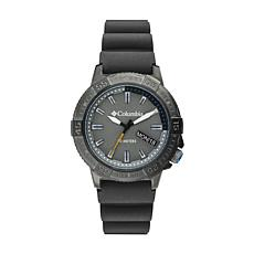 "Columbia ""Peak Patrol"" Men's Gray Dial Gray Silicone Strap Watch"