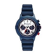 "Columbia ""Peak Patrol"" Men's White Dial Navy Silicone Strap Watch"