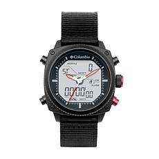 "Columbia ""Ridge Runner"" Men's Analog-Digital Black Nylon Strap Watch"