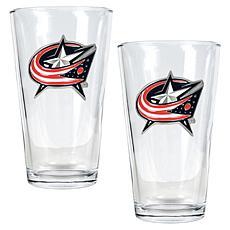 Columbus Blue Jackets 2pc Pint Ale Glass Set
