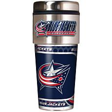 Columbus Blue Jackets Travel Tumbler w/ Metallic Graphi