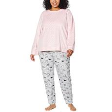 Comfort Code 2pc Sueded Microfleece PJ Jogger Set
