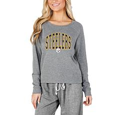 Concept Sports Mainstream Ladies Knit Long Sleeve Top - Steelers