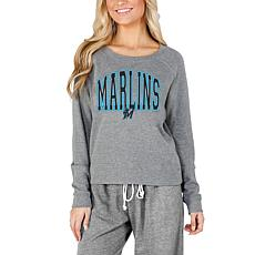 Concepts Sport Mainstream Ladies Knit Long Sleeve Top - Marlins