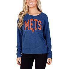 Concepts Sport Mainstream Ladies Knit Long Sleeve Top - Mets