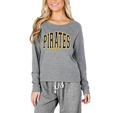 Concepts Sport Mainstream Ladies Knit Long Sleeve Top - Pirates
